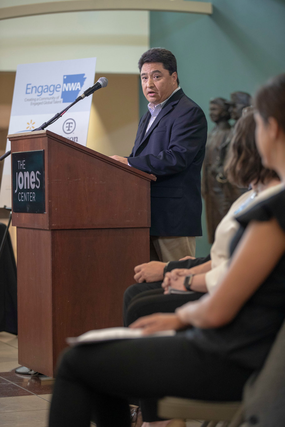Hector Gonzalez, a Tyson Foods vice president of human resources, spoke at the July event where the EngageNWA Strategic Plan was made public.