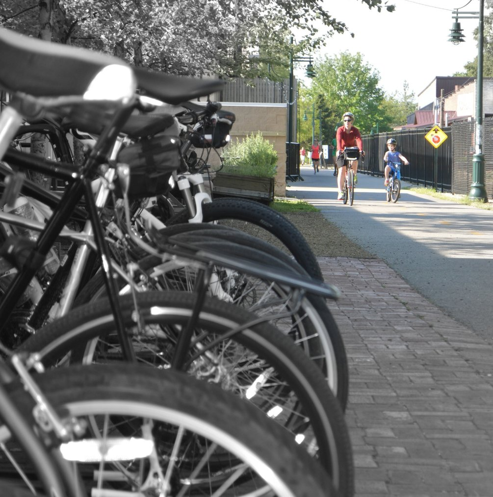 A Fayetteville section of the Razorback Greenway near Dickson Street is one of the busiest in Northwest Arkansas.