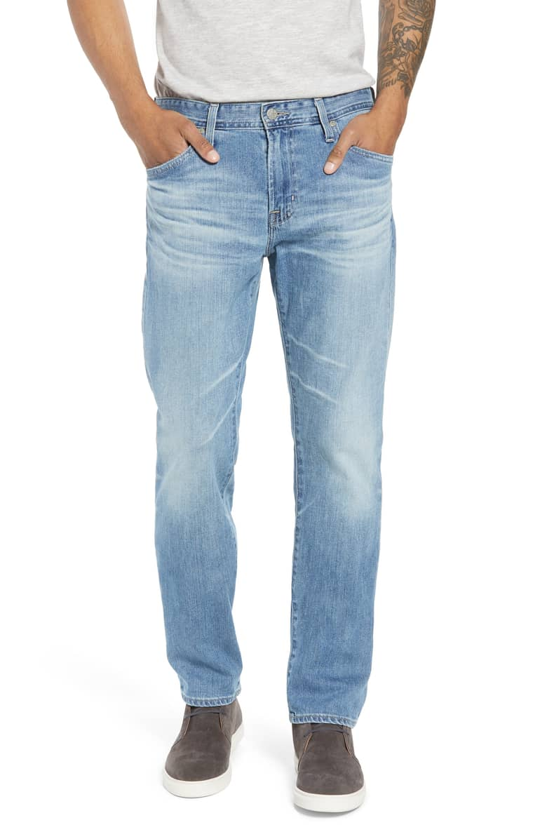 AG The Everett Slim Straight Light Wash Jean