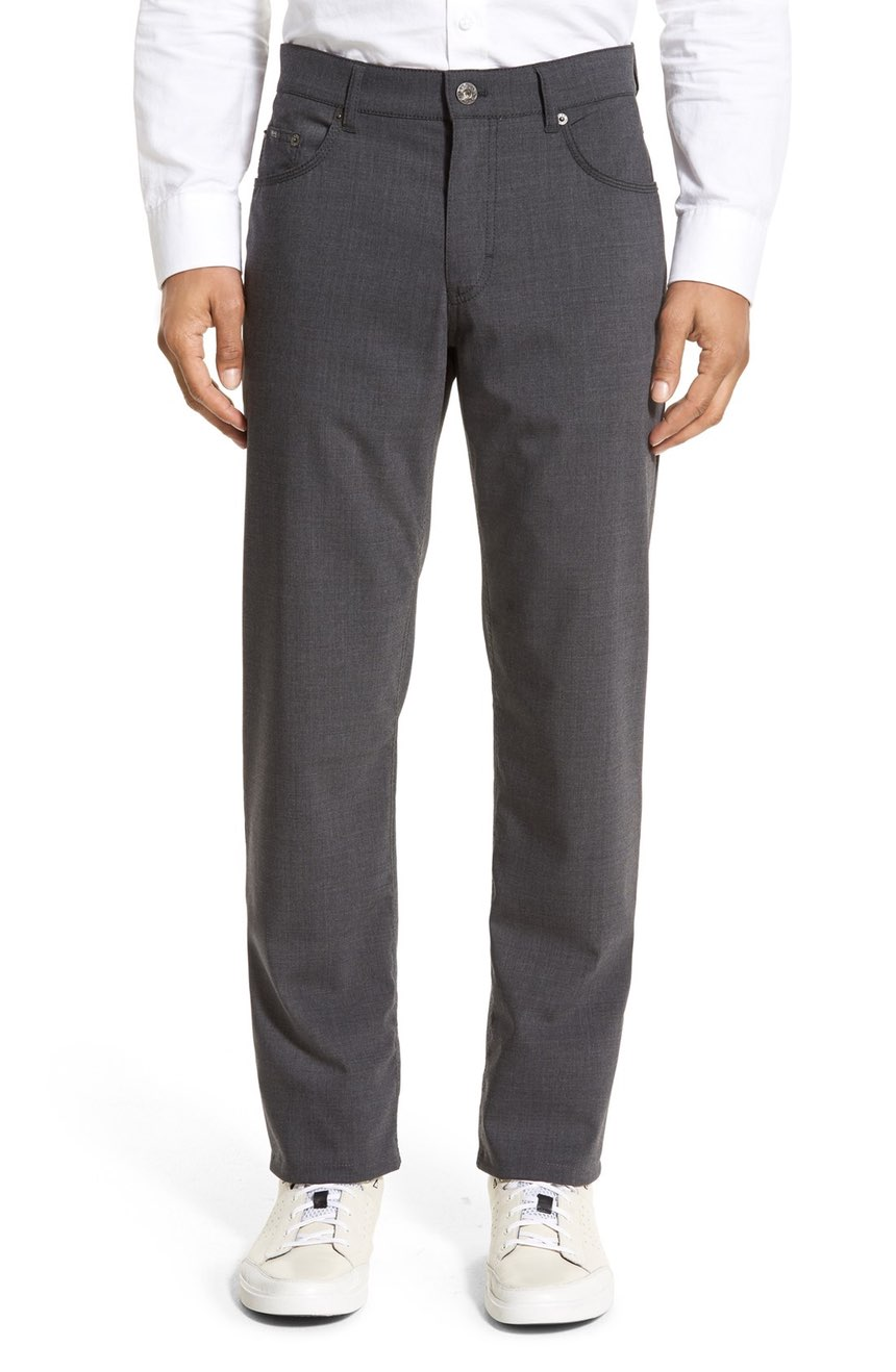 BRAX Manager 5 Pocket Wool Pant  Available in Graphite, Black, Beige, Blue and Khaki