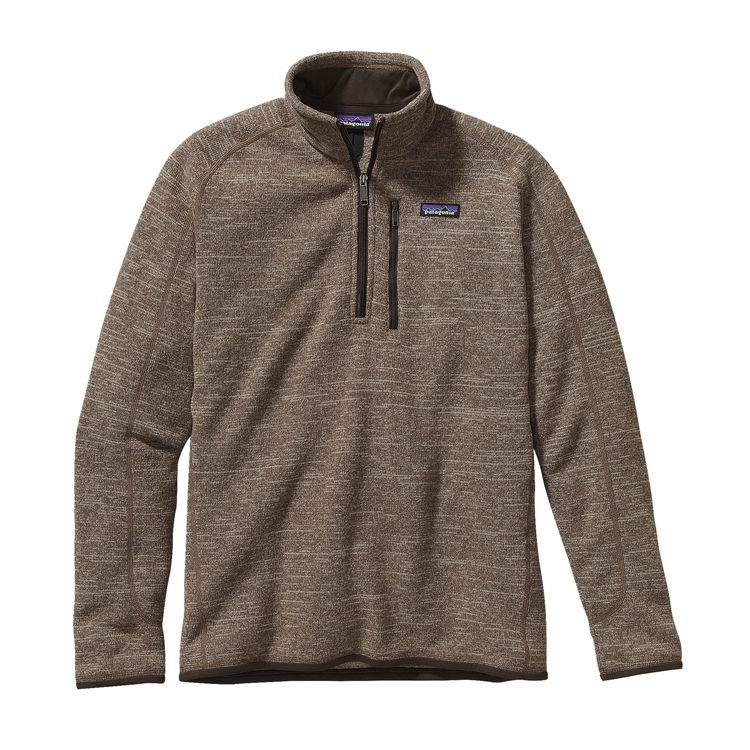 Better Sweater 1/4 Zip Fleece in Pale Khaki (above), Black, and Gray