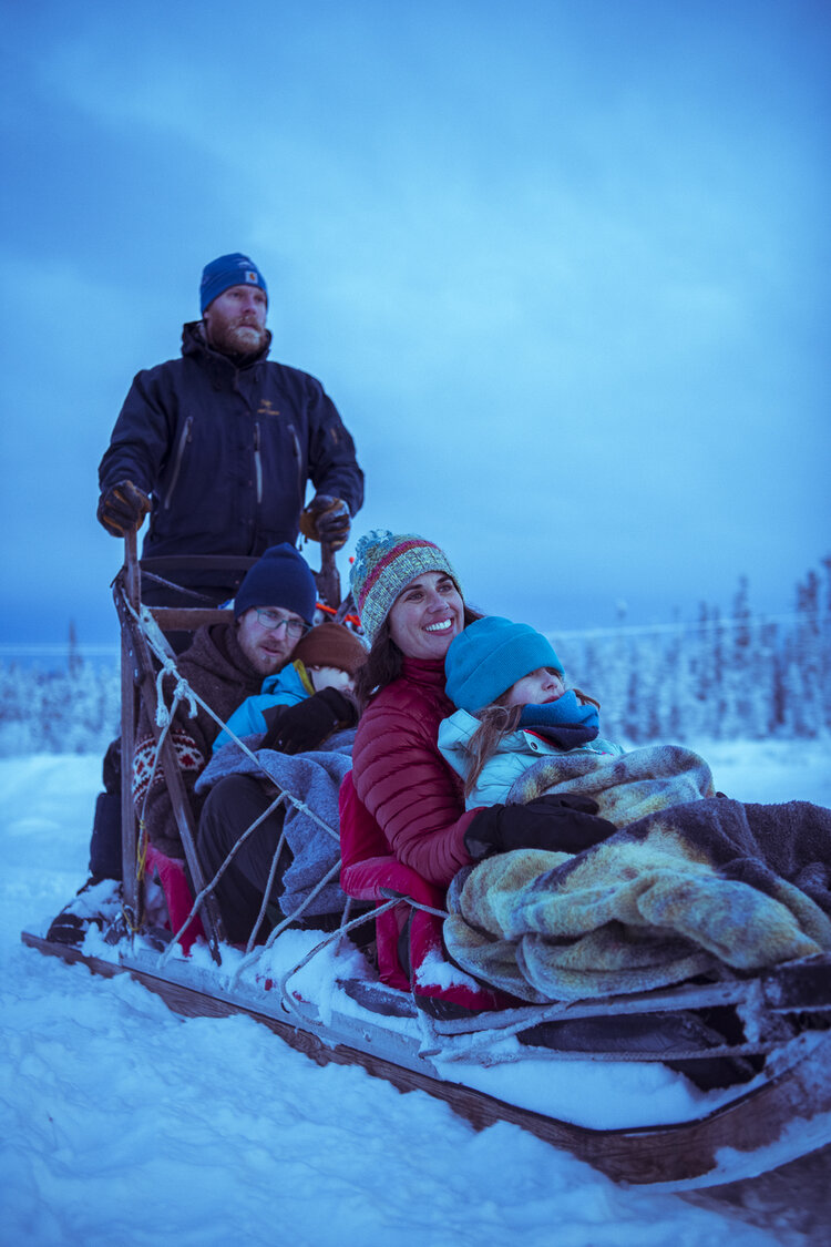 Fun for the whole family! - If you aren't feeling up to mushing your own team, we also offer sled rides.