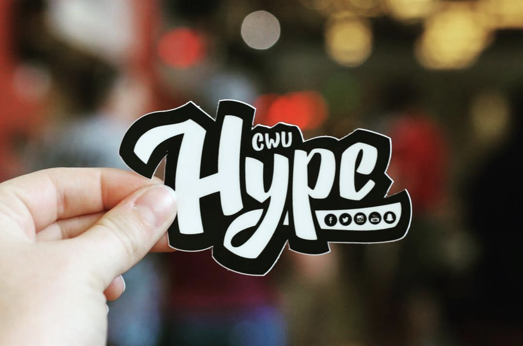 CWU Hype logo design.  *Photo courtesy of CWU Hype