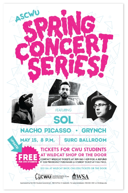 Spring Concert Series event poster design