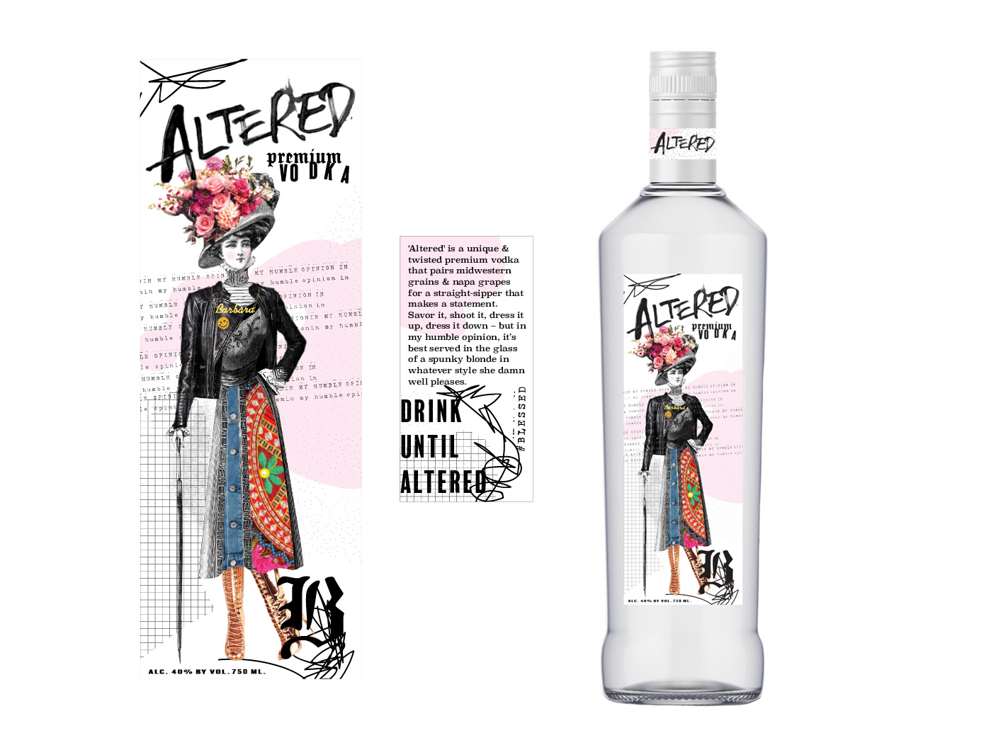 Custom label created as a personal gift.  Design direction:  Julia Perry, Eliza Young, Laurel Fisher.  Content:  Julia Perry.  Illustration/artwork:  Laurel Fisher  *Freelance