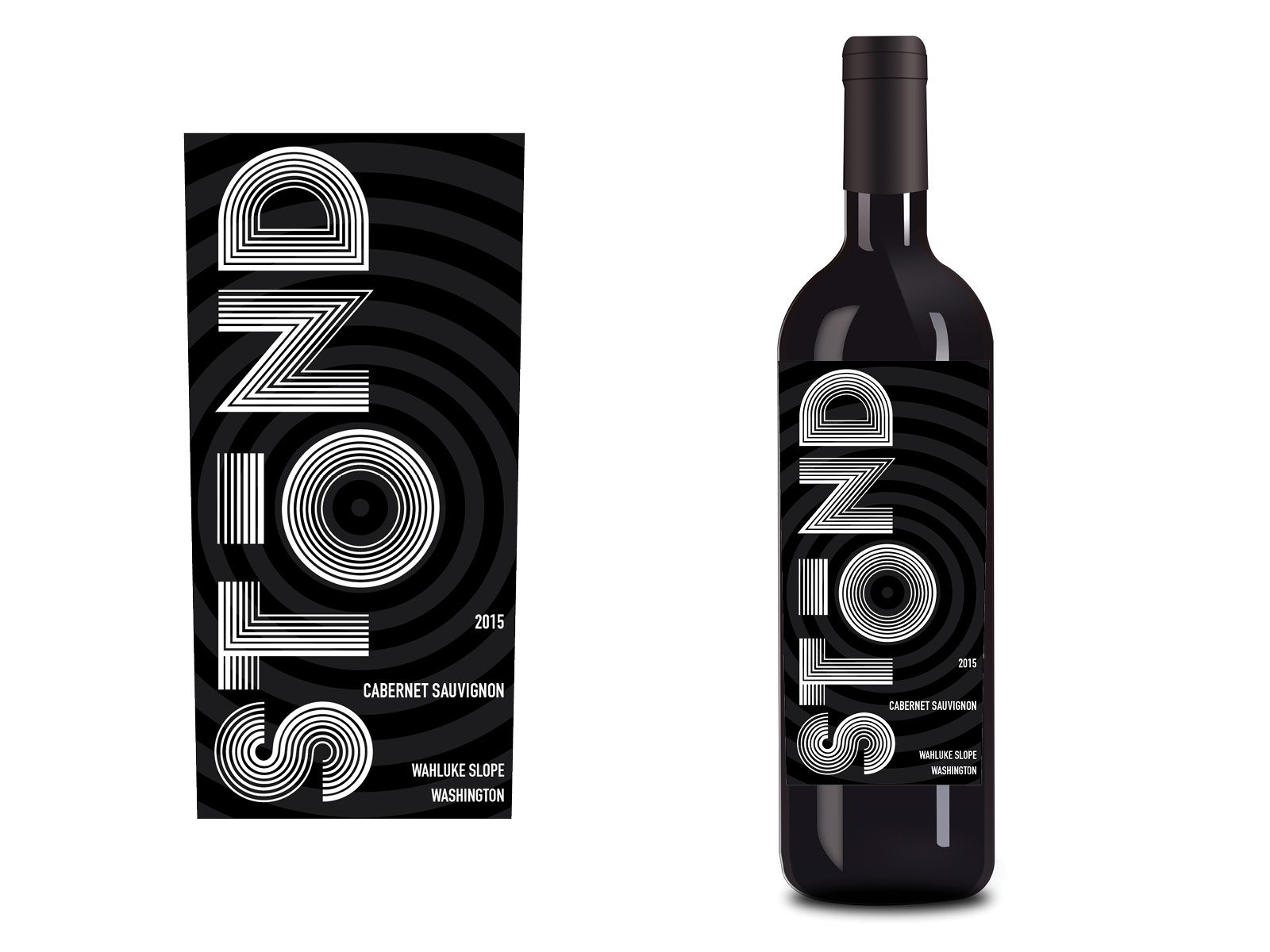 Unused concept for 'Stond' wine.  *Gravity Creative