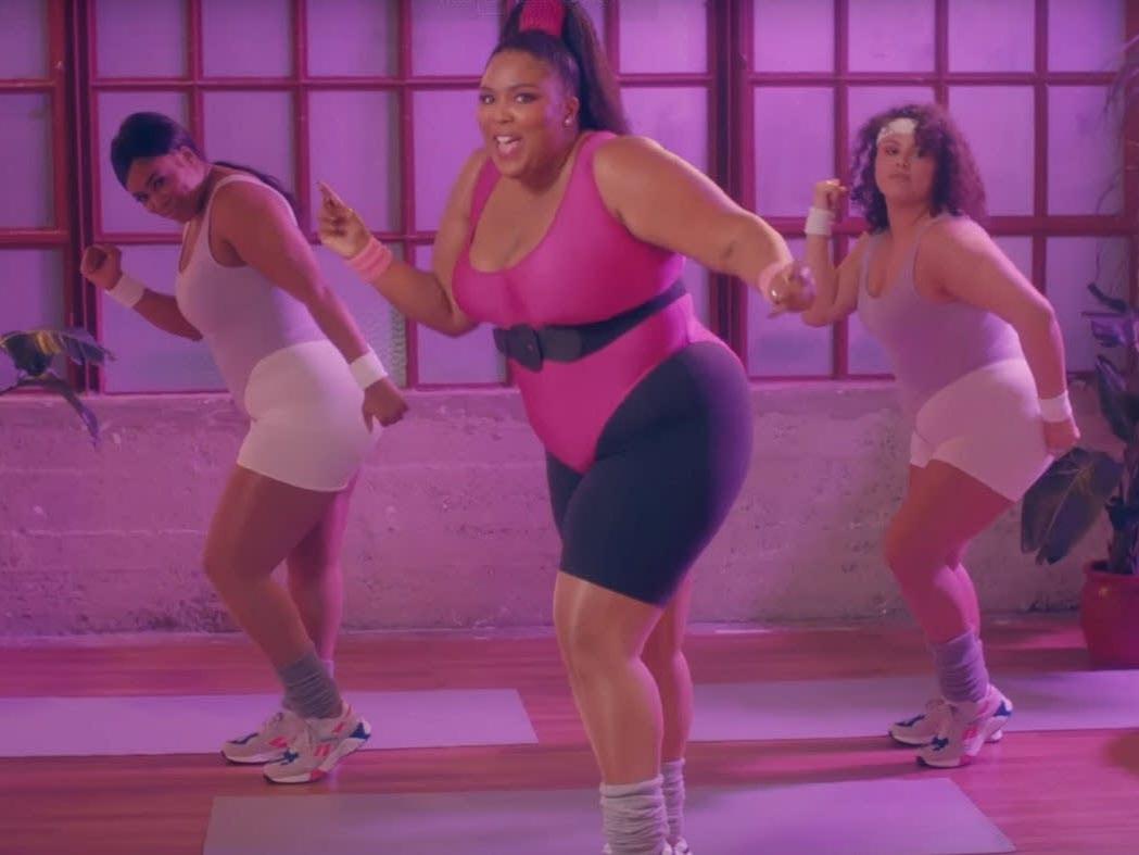 """Screenshot of Lizzo's """"Juice"""" music video."""