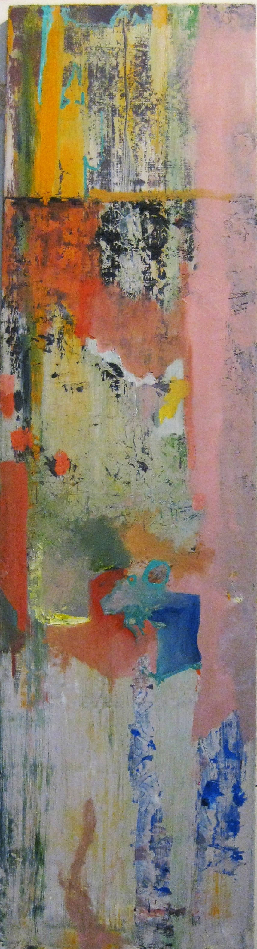 "Lies My [Art History] Teacher Told Me.   Oil on Panel  17"" x 64""  2012"