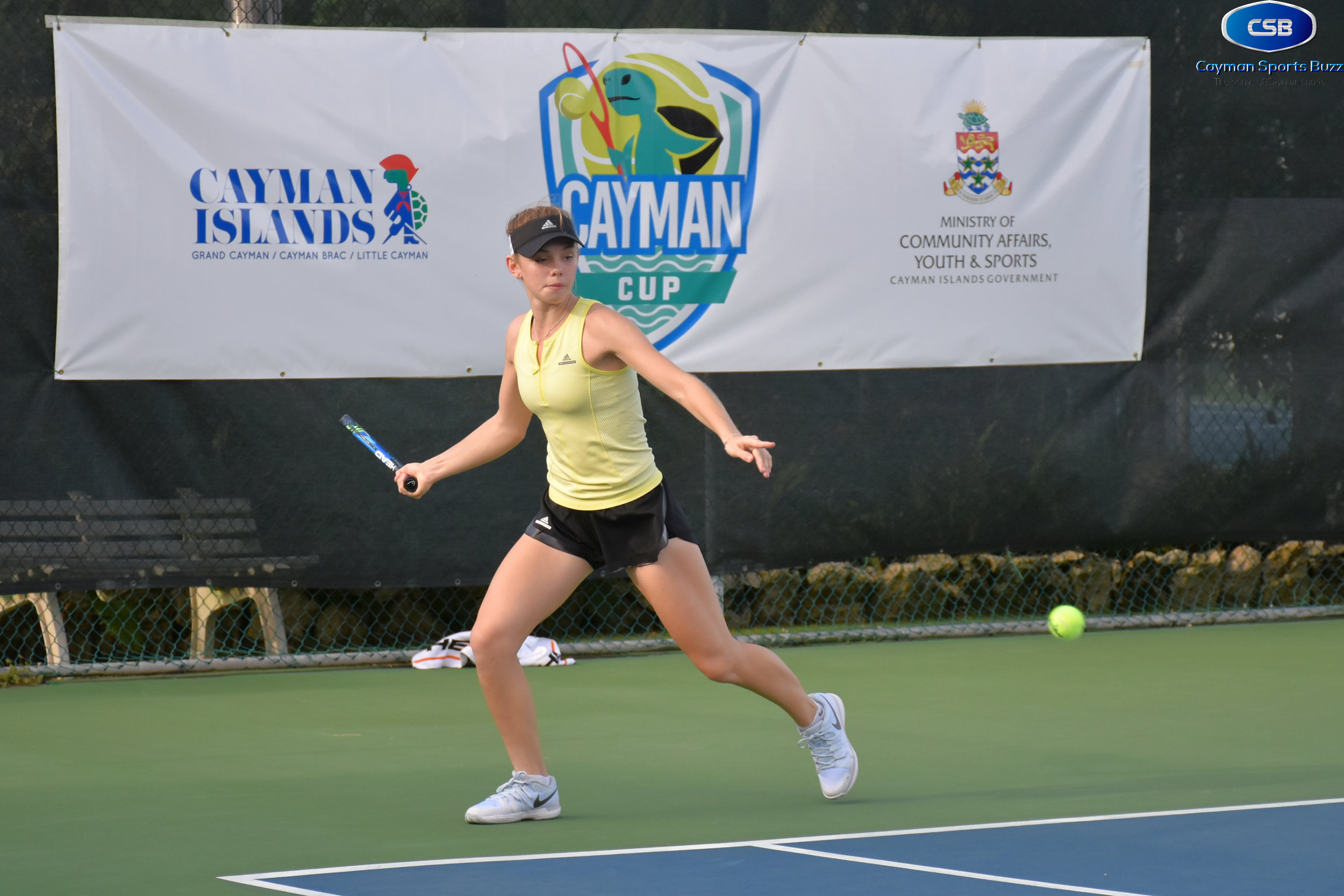 Canada's Samantha Horwood won her first match today.