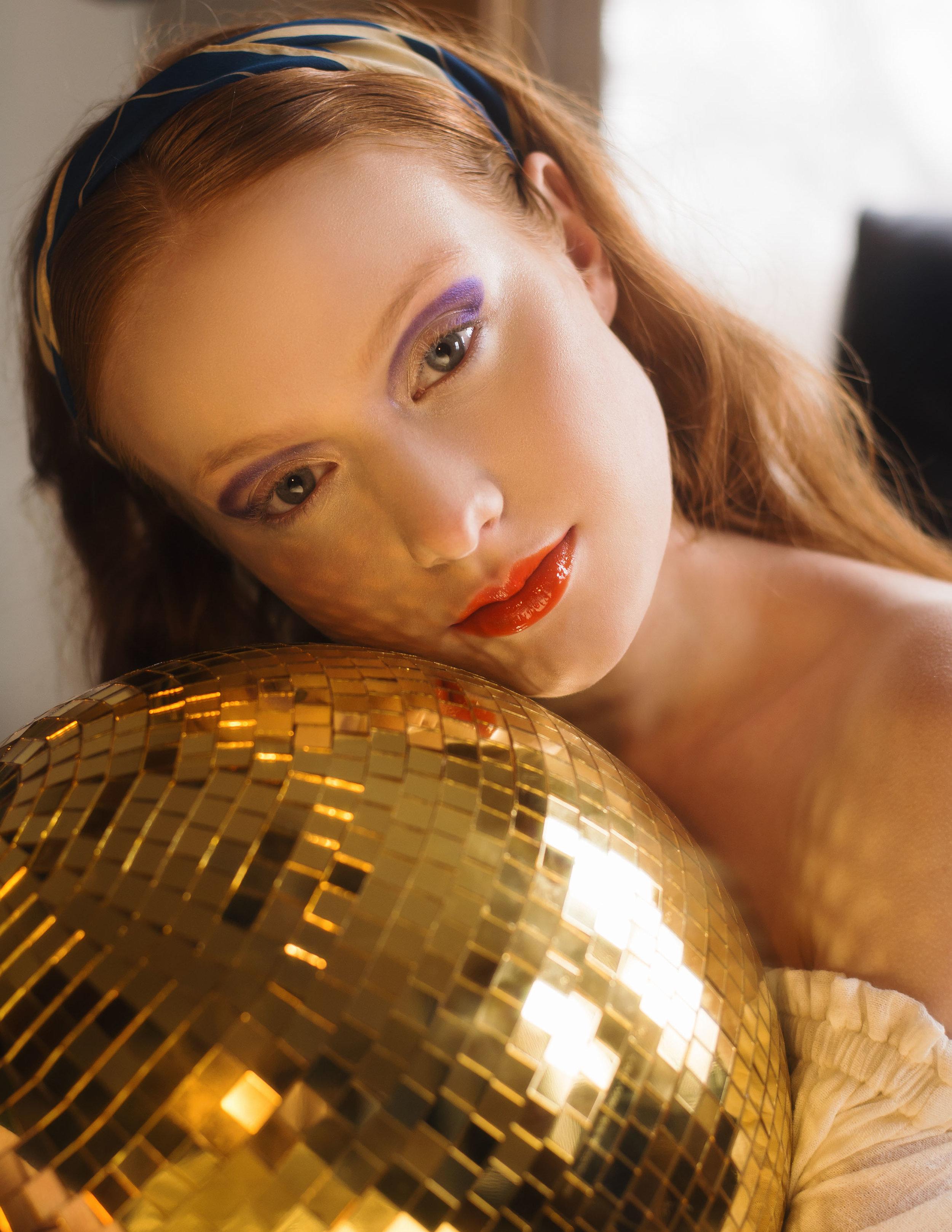 Model: Rebecca  Agency: Ford Models  Makeup & Art Direction: Erica Janssen  Hair: Ania Lisikiewicz  Photographer: Colleen Carney  Stylist: Francesca Gabrielle