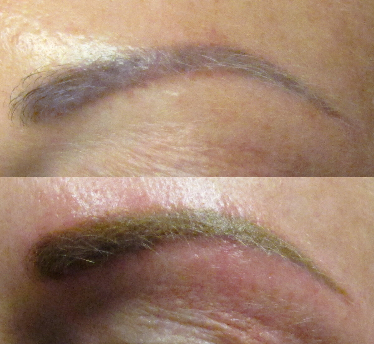 Liz Cook Tattoo Permanent Makeup Brows Corrective Color Purple Before After.jpg
