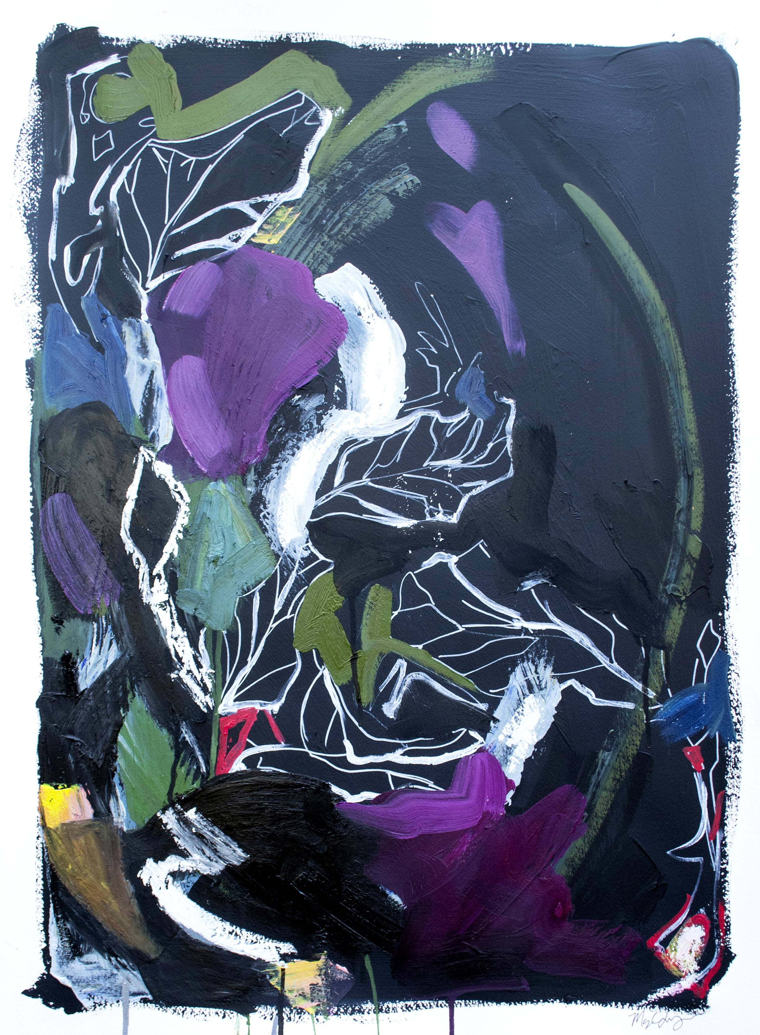 Night Study II. 22x30in oil on paper.