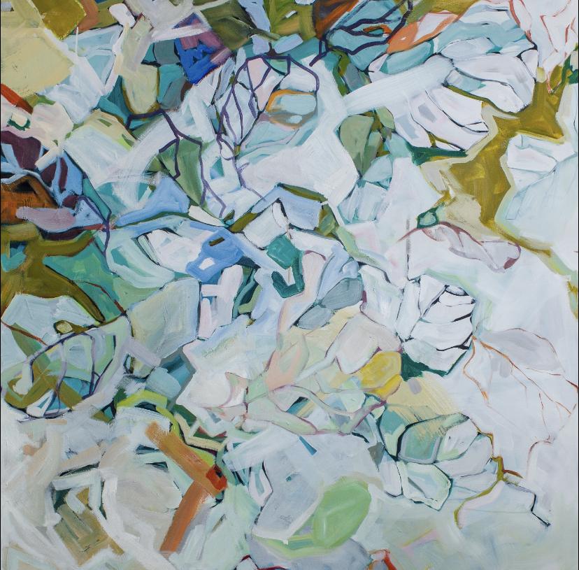 Still Glow. 48x48in oil on canvas.