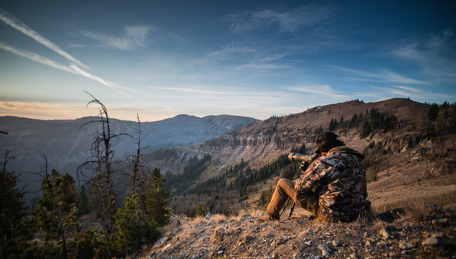 eduardo scouts for big horned sheep high in the gallatin range.  photo: yogesh simpson