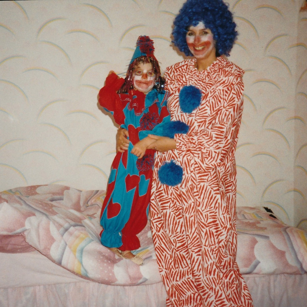 Mum and Jen Clowns.jpg