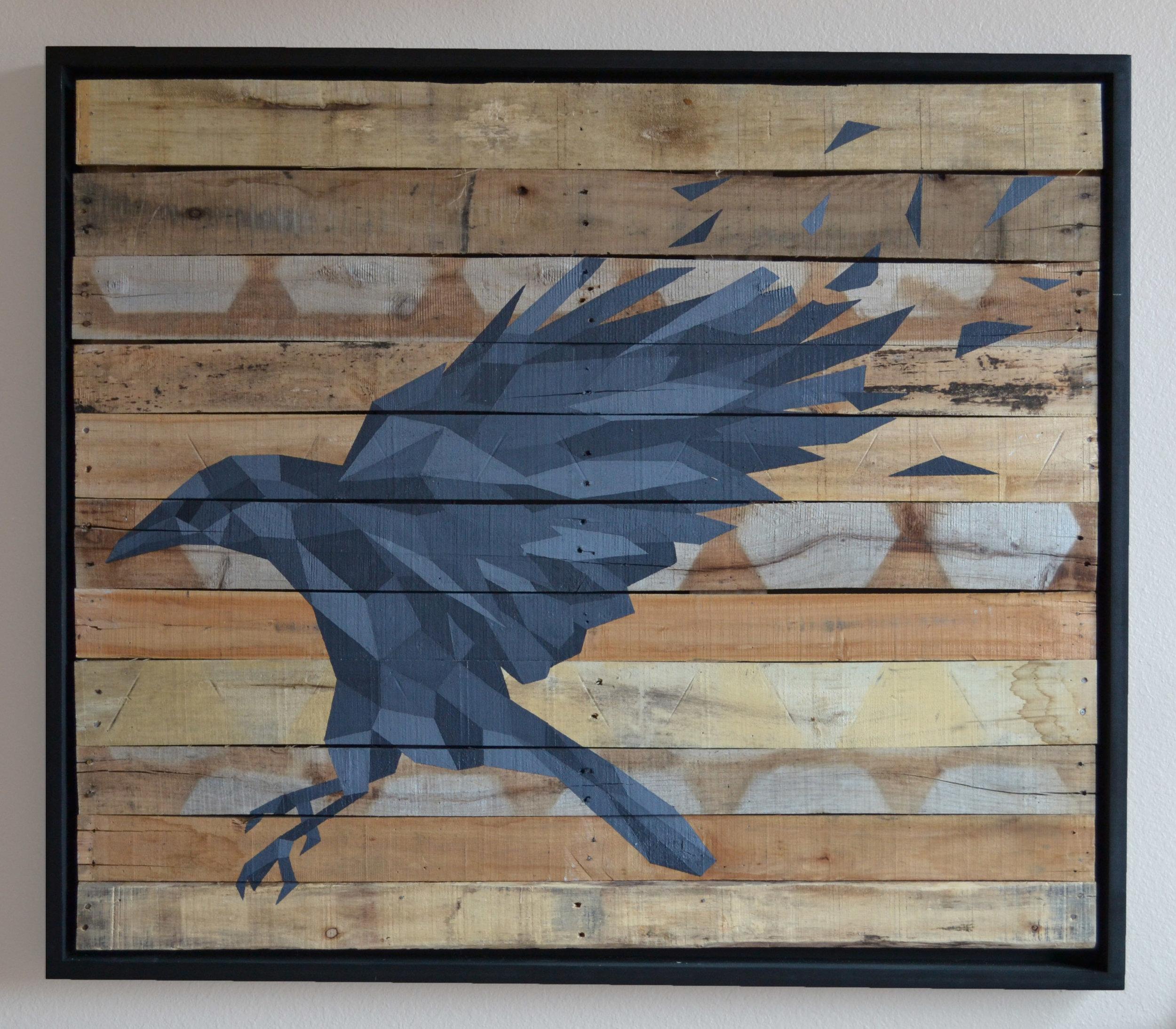 """Acrylic on Wood  40"""" x 48""""  2015"""