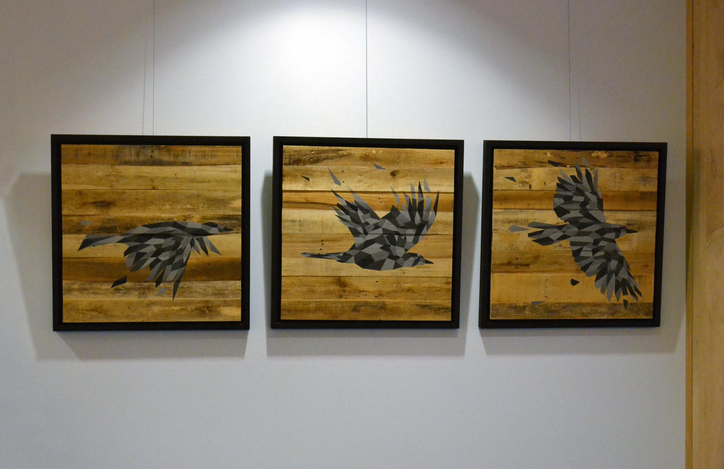 """Acrylic on Wood  26"""" x 84""""  2015"""