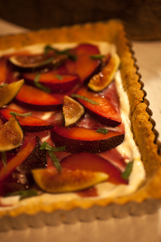 Fresh Plum + Fig Tart