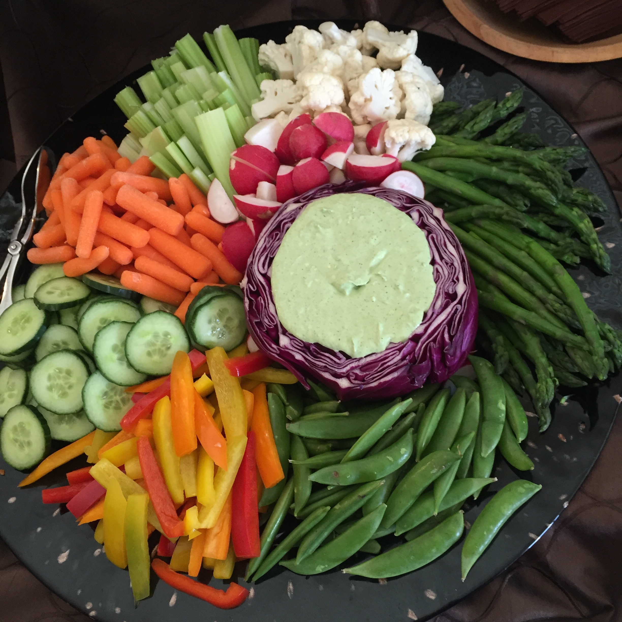 Crudite with Lemon Herb Dip