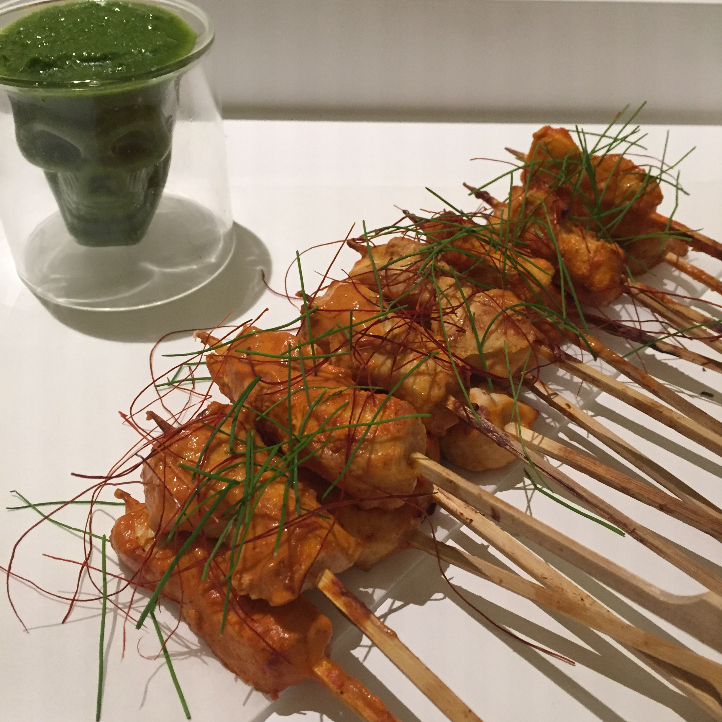 Chicken Diablo Skewers