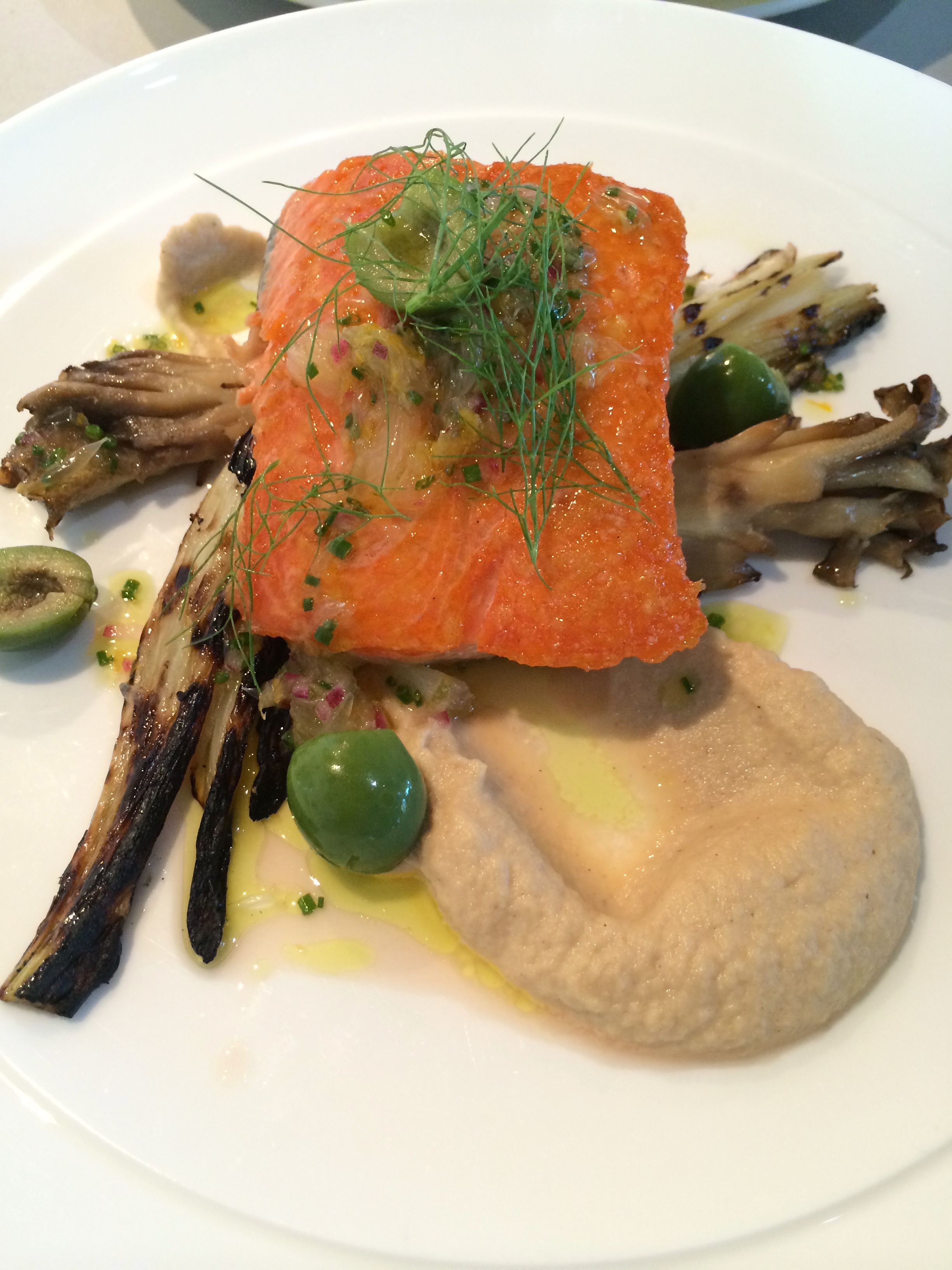 Sea Trout, Celery Root Puree