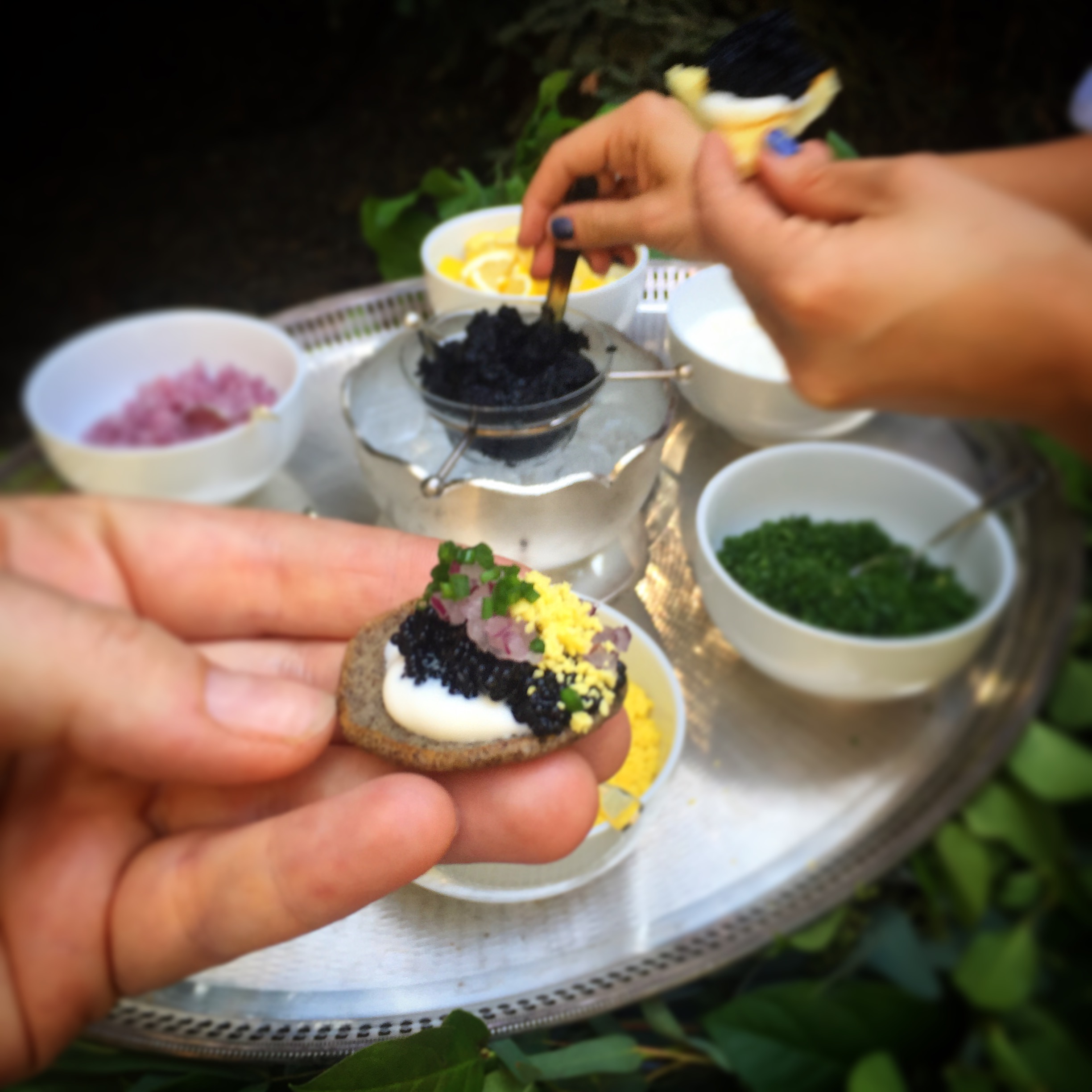 Caviar Blinis Station