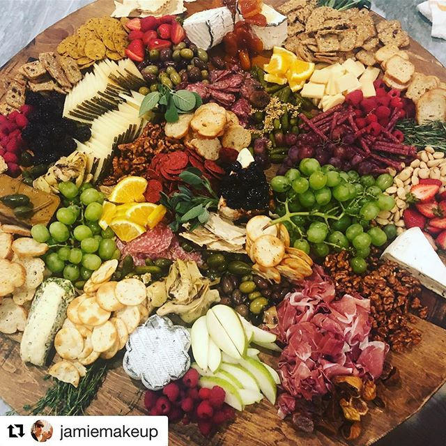 4 ft. Cheese & Charcuterie board!!! 🧀 #Repost @jamiemakeup ・・・ Mind blown @chefcordelia #jamiemakeup #gamenight #cheeseboard #charchuterie