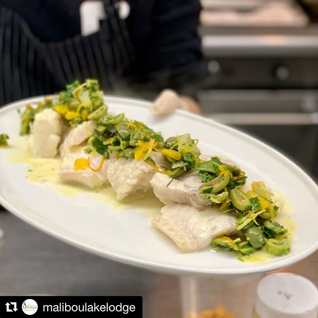 #Repost @maliboulakelodge ・・・ Butter poached cod with castelvetrano olive and citrus gremolata.  Rich, light, buttery, and bright all at the same time! 🍋 ⠀⠀⠀⠀⠀⠀⠀⠀⠀ .⠀⠀⠀⠀⠀⠀⠀⠀⠀ #chefcordelia #partyfood #losangelescatering #lacatering #weddingfood #instafood #foodpics #foodlover #foodstagram #supperclubatthelodge #supperclub #weddingtasting #weddingdinner #malibuwedding #venturawedding #santabarbarawedding #losangeleswedding #agourawedding #westcoastwedding #maliboulakelodge #maliboulake #maliboulakewedding #losangelesevents