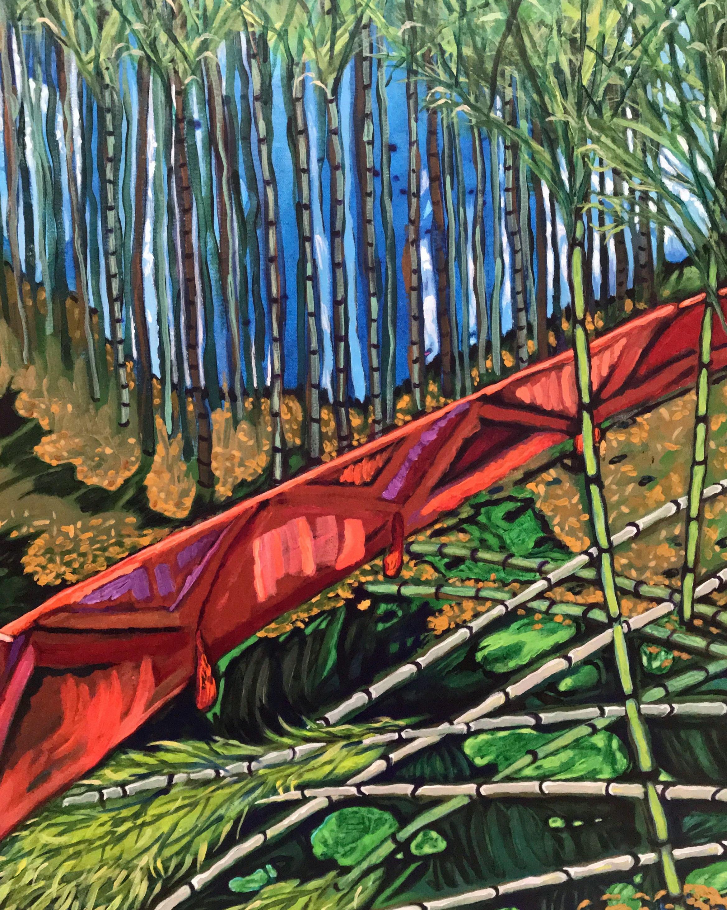 detail  Suburban Plight: encroaching bamboo