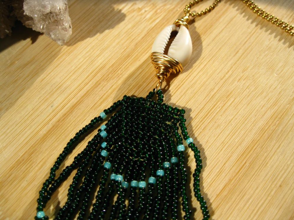 cowrie shell and seed beads pendant.JPG