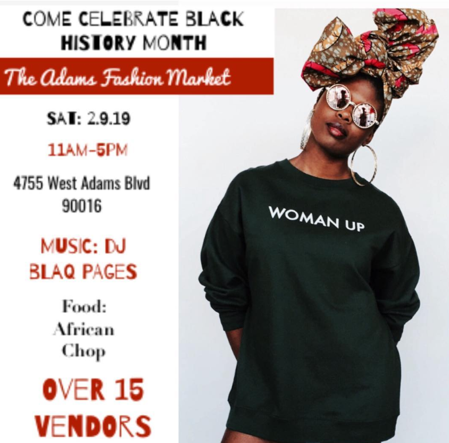 "Runway Boutique Presents ""The West Adams Fashion Marlket"". Join us on Sat 2.9.19 (11am - 5pm) as we bring the community a day filled with Fashion, Music & Art!!!  @africanchop  will be serving up some delicious African Cuisine,  @blaq_pages  will have a great playlist that will have you dancing!!! We will have curated vendors, head wrapping station, floral crowns, art and so much more...If you wish to attend this is a free community event!!! RSVP link in bio. A special thank you to our co-host  @sabasabamusic"