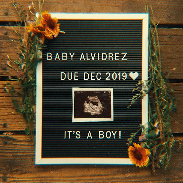 ✨BABY ALVIDREZ DUE DECEMBER 2019✨ no name yet, but we are so excited to bring this baby boy into our world💙coming sometime around christmas, the best present ever! this is literally the biggest year of our lives.