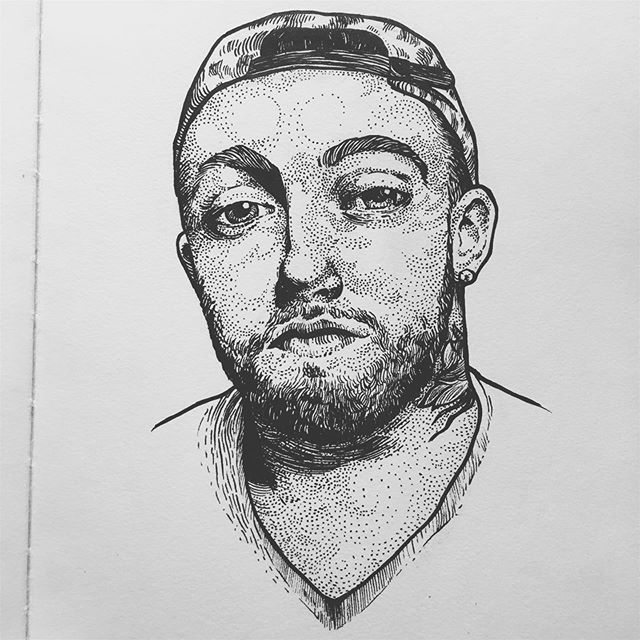 """""""no matter where life takes me, find me with a smile."""" can't believe it's been a year. rest in piece to one of the greats.🖤 : : : #macmiller #restinpeace #ink #inkdrawing #artwork #drawing #penandink #pendrawing #copic #rap #hiphop #sketch #sketchbook #sketching #inkwork #blackworkillustration #illustration #blackwork #inktober #inkdrawings #drawings #inkstagram #rapper #hiphopartist #denver #colorado #denverart #denverartist #coloradoart #coloradoartist"""