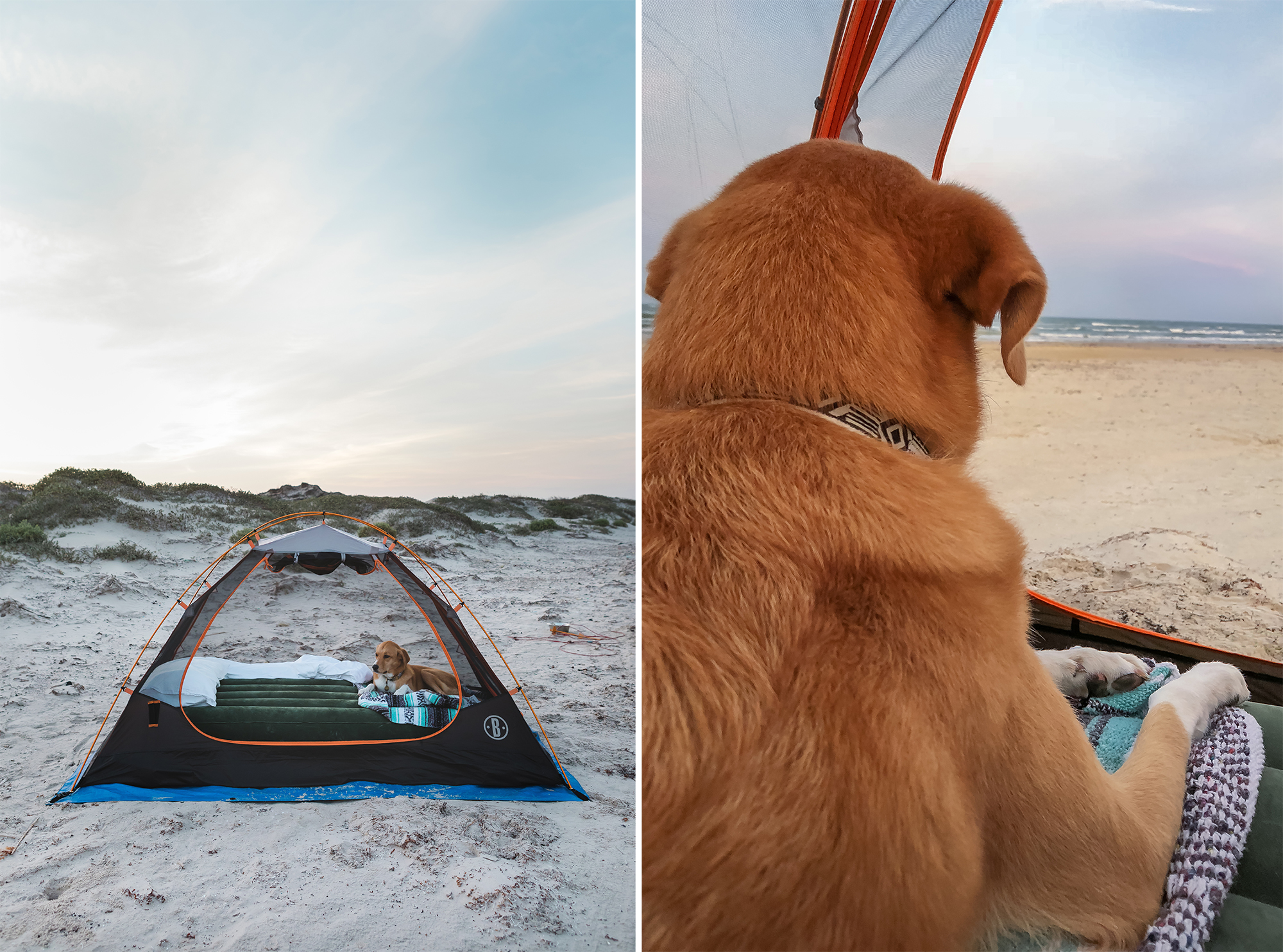 The luxuries of car camping.An airbed. | Padre Island National Seashore, Texas | June 2018