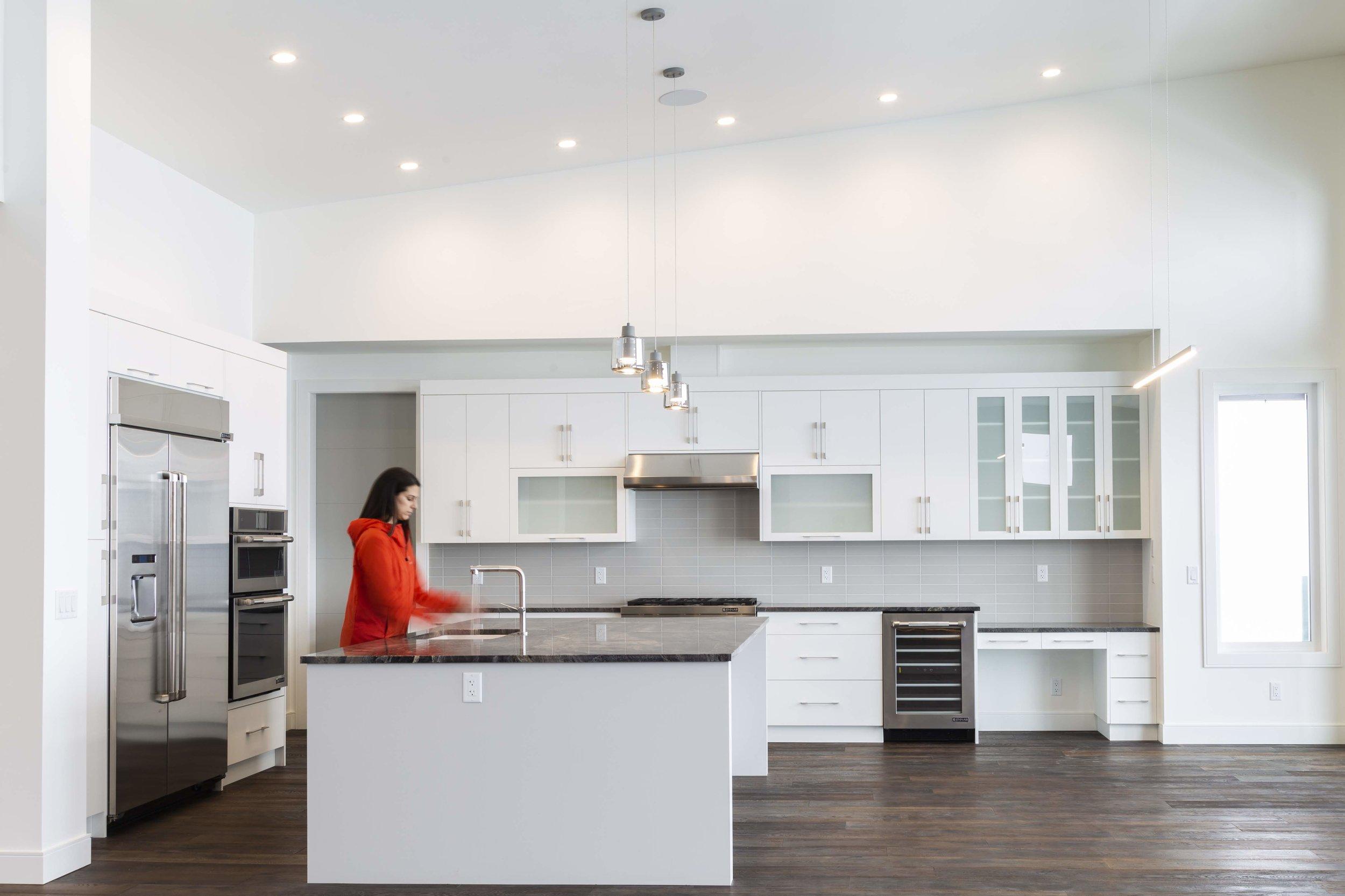 Modern white custom kitchen