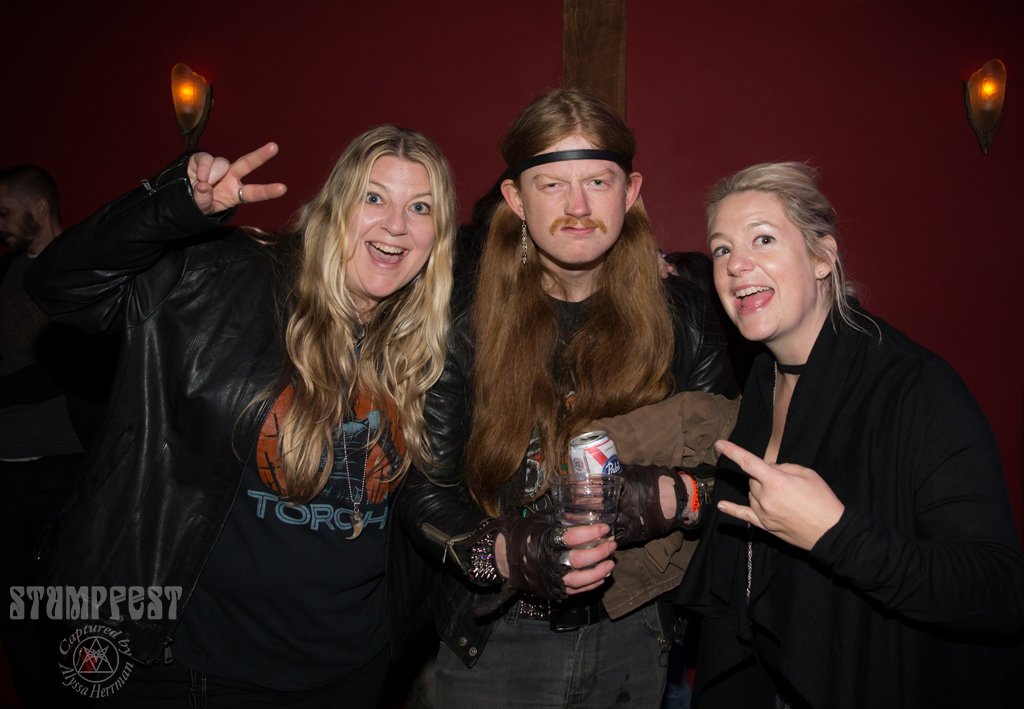The Stump sisters with Calvin from Acid Wash