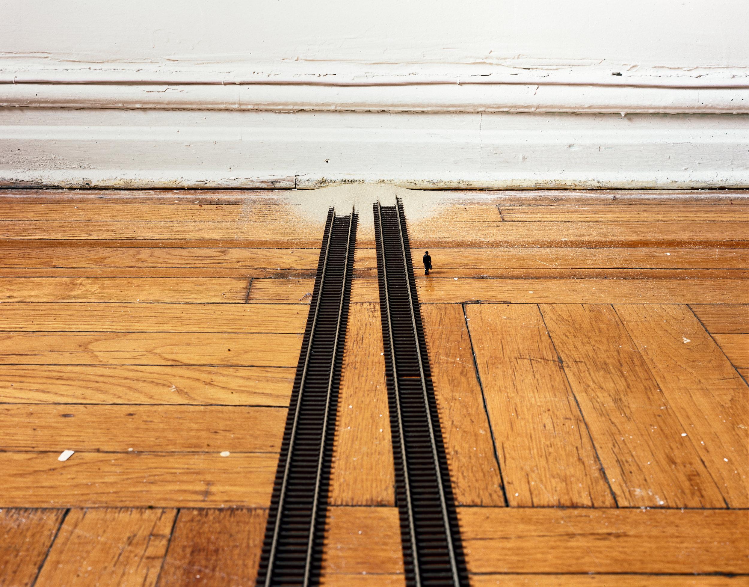 """Rail Tracks (miniature)"" , 2013 Archival pigment print, 16""x20""  Courtesy Yoav Friedlander & Carrie Able Gallery"