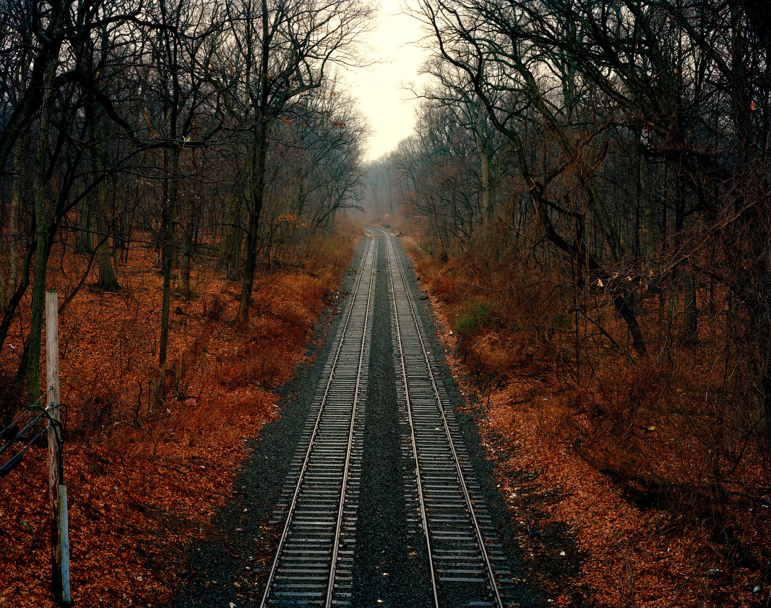 """""""Old LIRR Trachs (miniature)"""" , 2012 Archival pigment print, 16""""x20""""  Courtesy Yoav Friedlander & Carrie Able Gallery"""