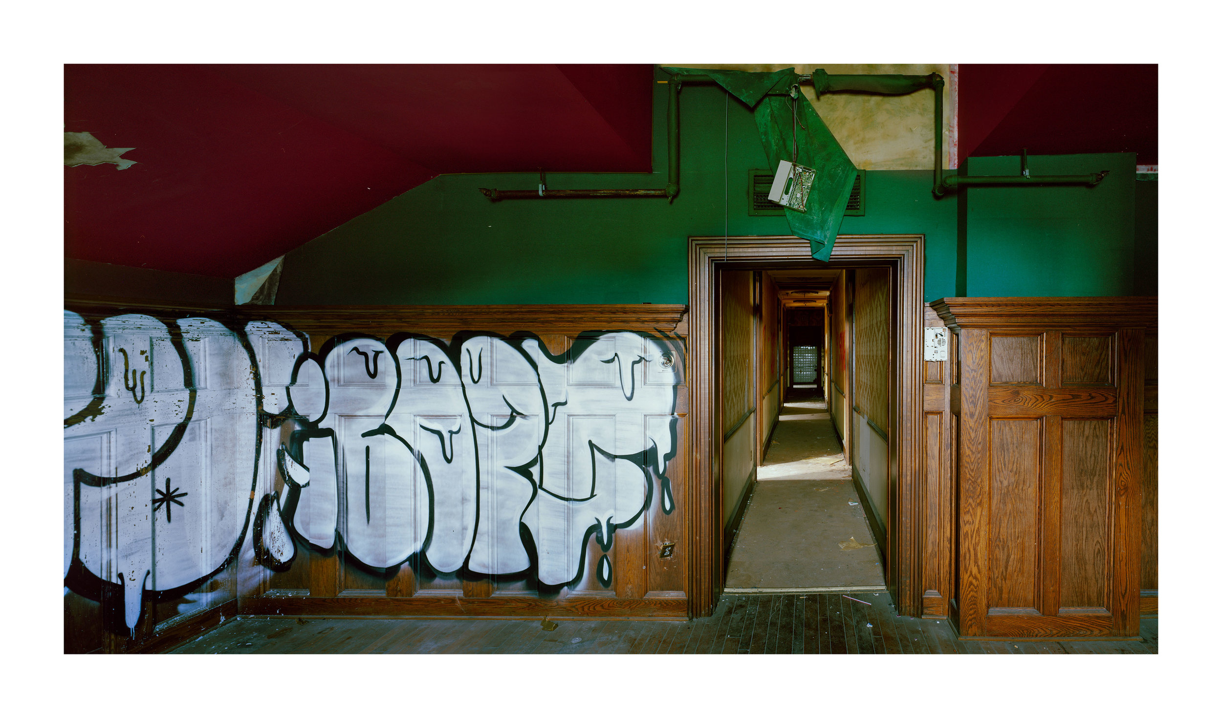 """""""Central Railroad of New Jersey Station, 1-75 S Wikes-Barre Blvd, PA"""" , 2018 Archival pigment print, 20""""x16""""  Courtesy Yoav Friedlander & Carrie Able Gallery"""