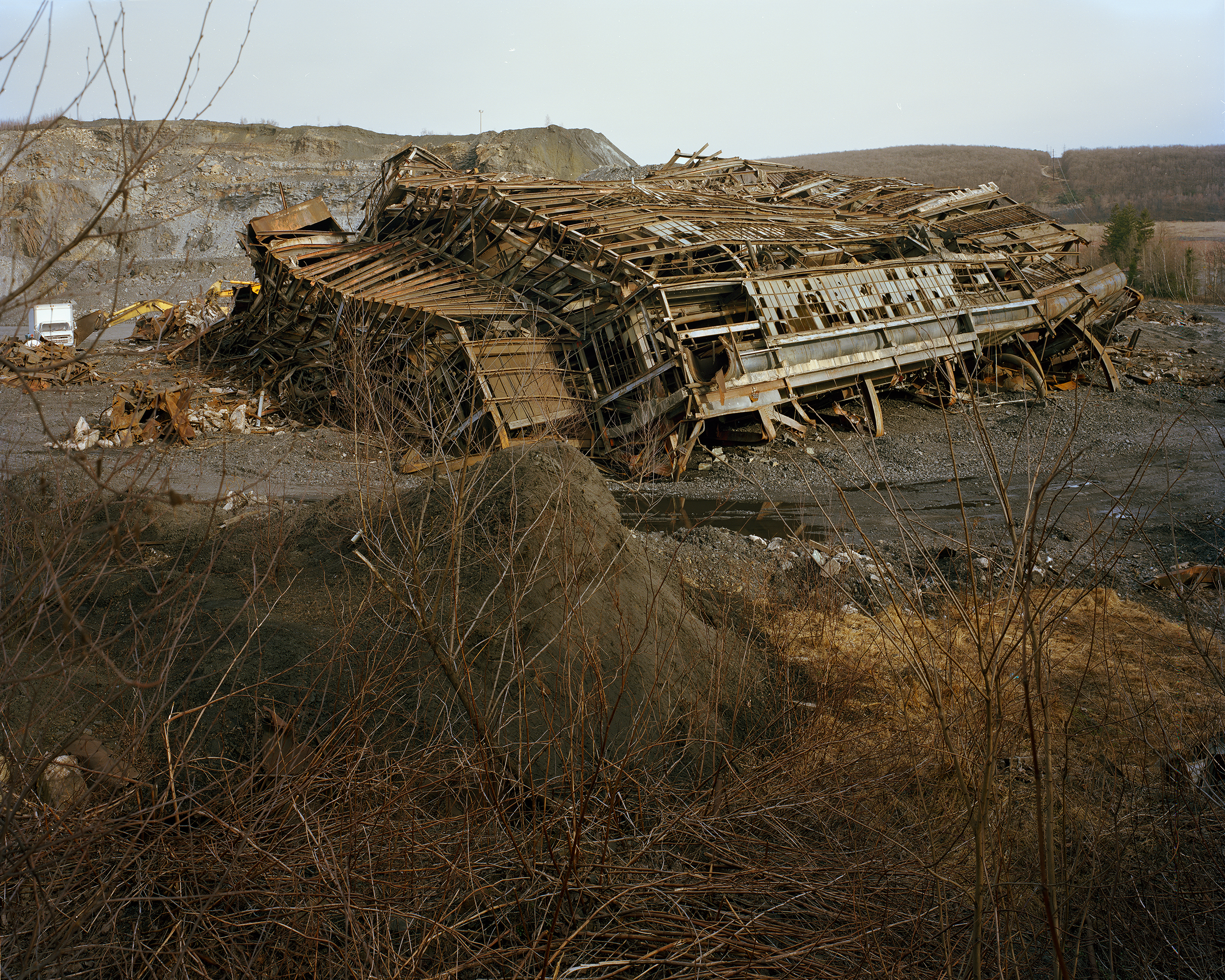 """""""After the fall, St Nicholas Coal Breaker, Pennsylvania 54, Mahanoy City, PA"""" , 2018 Archival pigment print, 16""""x20""""  Courtesy Yoav Friedlander & Carrie Able Gallery"""