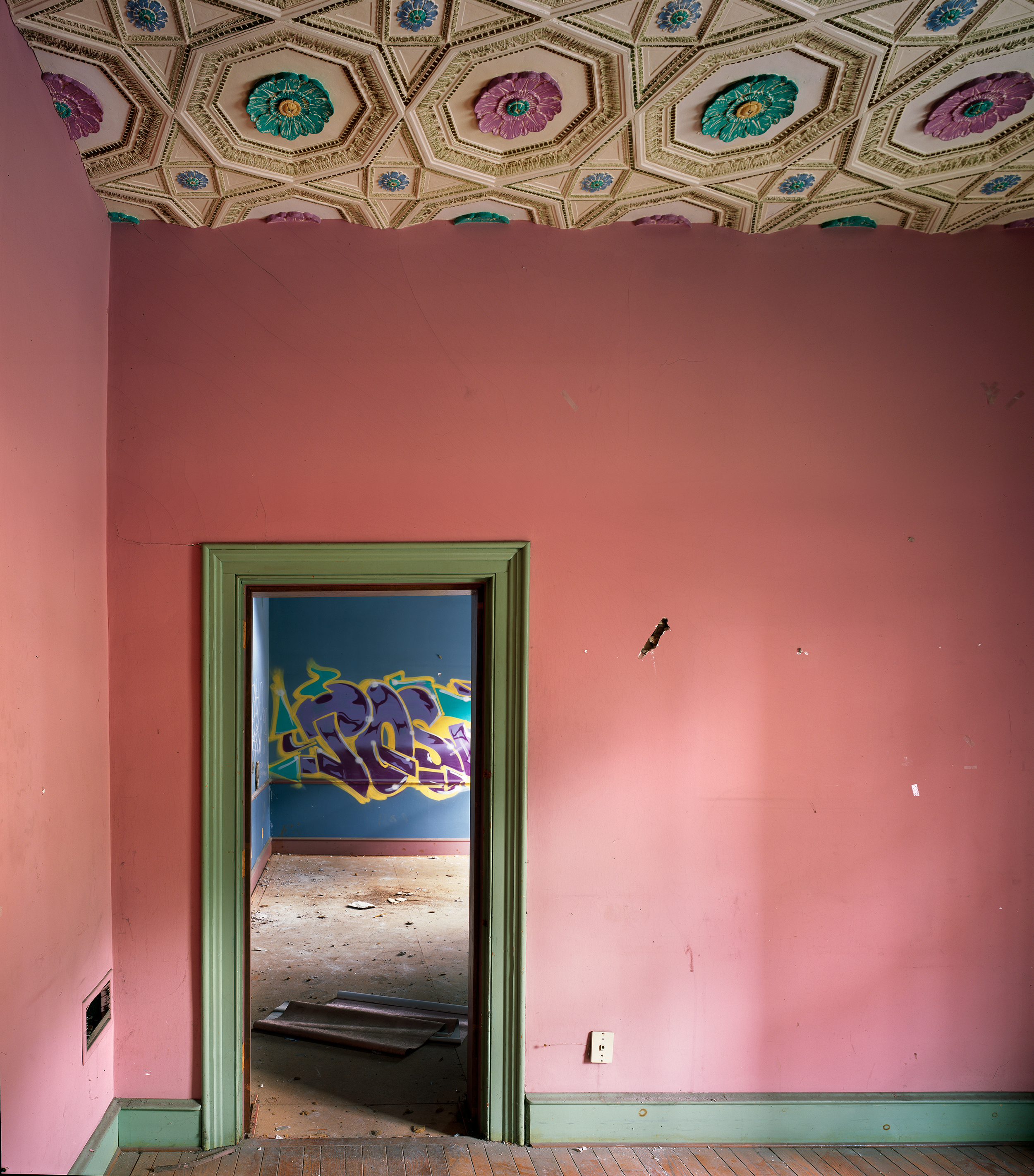 """""""Central Railroad of New Jersey Station, 1-75 S Wilkes-Barre Blvd, Wilkes-Barre, PA """" , 2018 Archival pigment print, 20""""x16""""  Courtesy Yoav Friedlander & Carrie Able Gallery"""