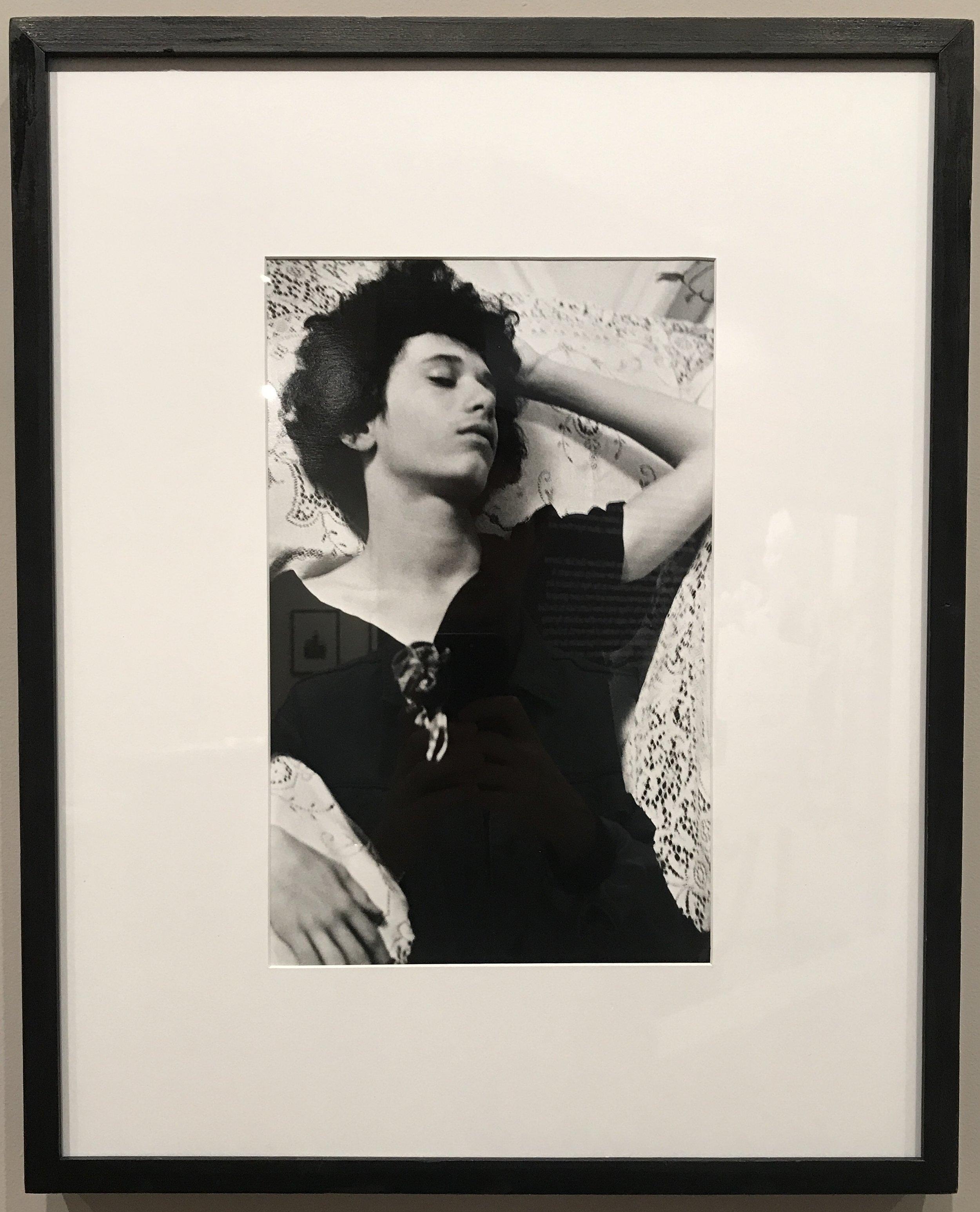"Donna Gottschalk, ""Alfie in Mary's dress, San Francisco"", 1973. (Image by author)"