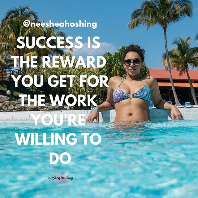 Success is the reward you get for the work you're willing to do. Willing being the key word!  I think success is really different for everyone but most important success in business comes from the work you're willing to do to grow yourself.  It can be easy to see what someone has or shows they have in the day of social media words, fancy images can really be smoke and mirrors. So how do you know what's real and what's not? Well, success leaves clues just as people who are unsuccessful leaves clues as well.  When it comes to becoming what success is to you it starts with defining what that vision of success is. Everyone's vision is going to be completely different.  For me making 6 figures a month is in my vision! Having time flexibility in my life is key and planning life around my relationships and my family is my first priority. Being able to leave a legacy for my kids is what fuels my drive.  And the biggest thing is I am willing to do all the work to have the rewards of success in my life. I don't think everyone is willing to otherwise it would be a lot easier to become a millionaire.  So where do you start? Mindset 1000% you can't become successful on the habits you're currently doing. You have to step into a new program which takes a paradigm shift.  Spending time daily on reading, studying success, learning people skills, learning money mindset skills is a great start. But you have to put into practice what you're learning. That's called wisdom!  Wisdom = Applied knowledge  Really if you're not growing your dying. At least your success is dying.  Eventually when you spend enough time around successful people, reading the books they read, following the principles they teach about, you'll grow to be like them!  To wrap this up. You need three basic things to start, will, skill set and mindset.  You need to be willing to grow your awareness, do the work, make the investment in yourself coaches, mentors, books, courses and conferences.  Which gets you the skills and mindset you need to reach your success goals!  Declare your vision. What is success to you? . . . #success #successmindset #hustle #hustlehard #persongrowth #growthmindset #influencer