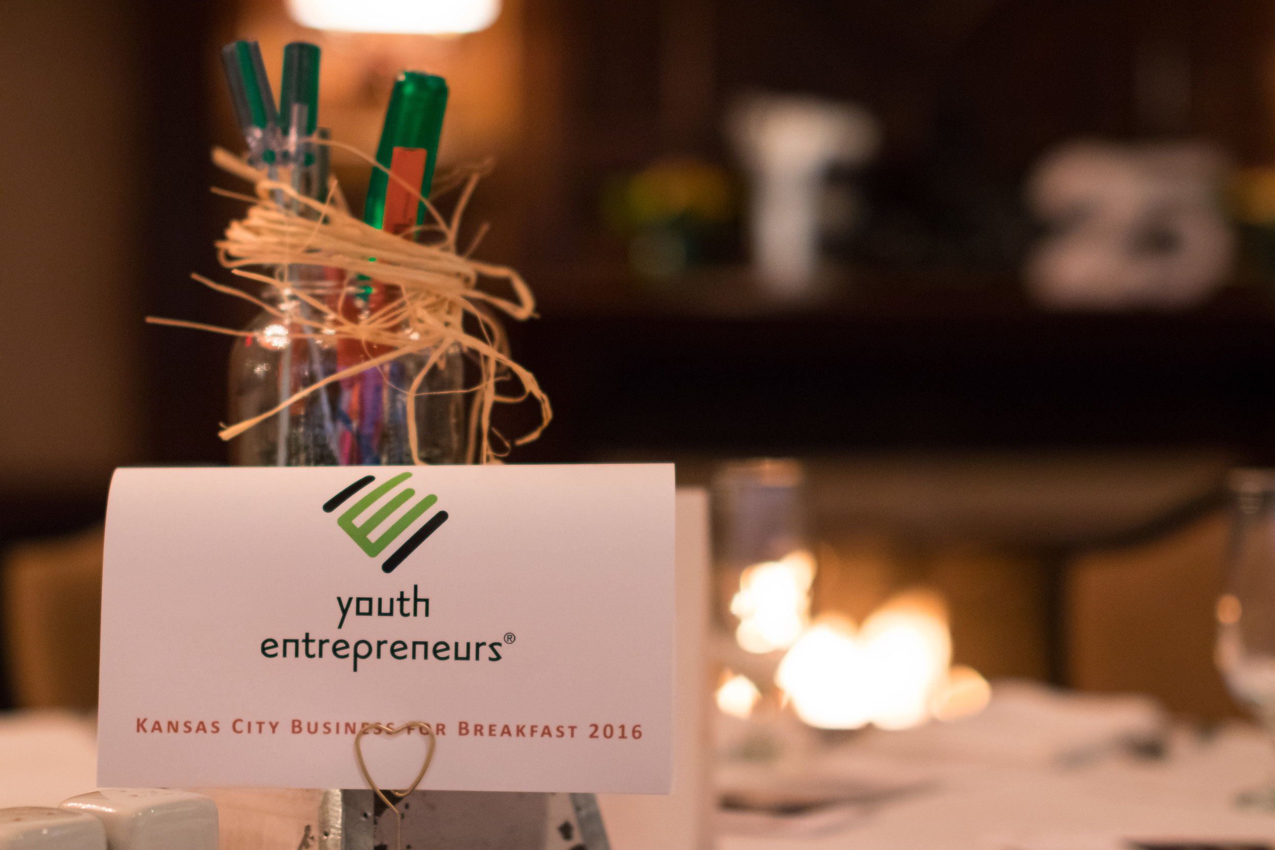 Youth Entrepreneurs Business for Breakfast 2016 Table