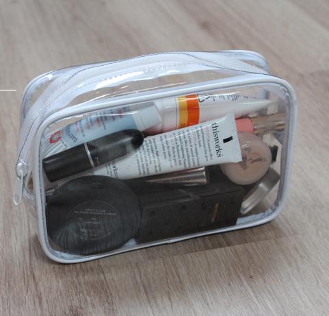 lily pebbles's travel makeup bag