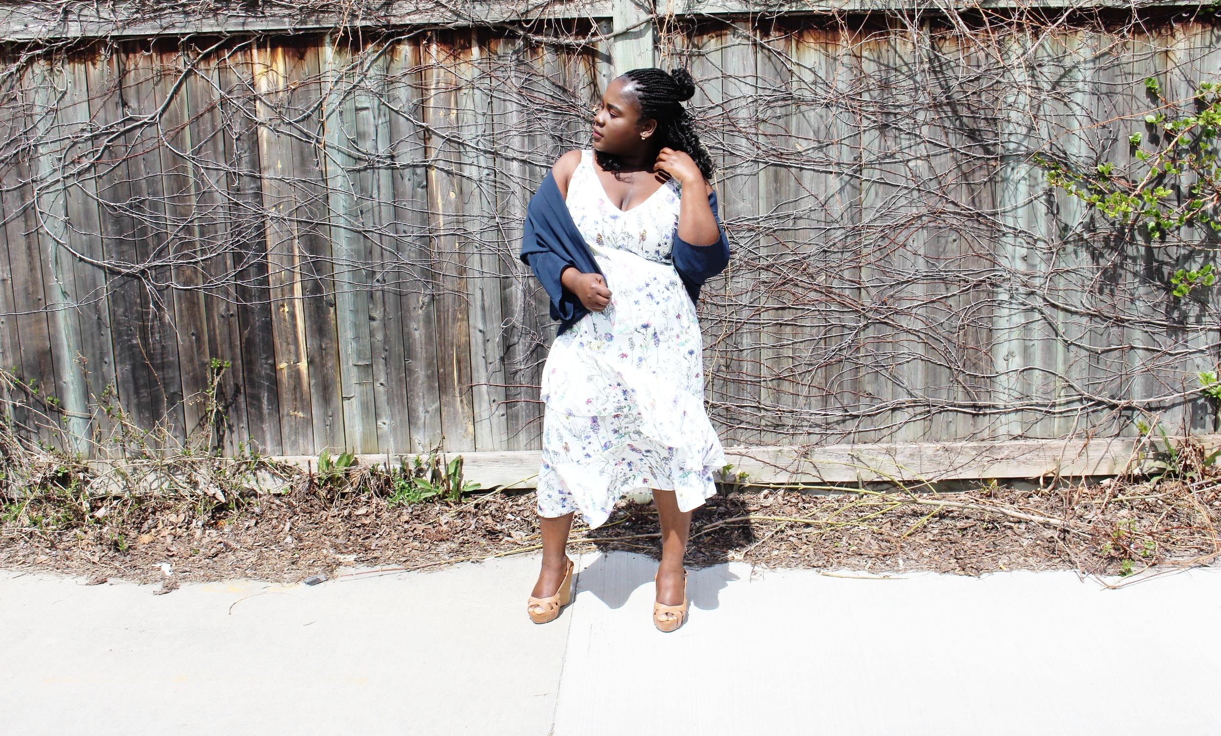crepe summer dress