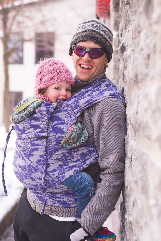 Ottawa Babywearing Group Dad Byward Market Purple Carrier