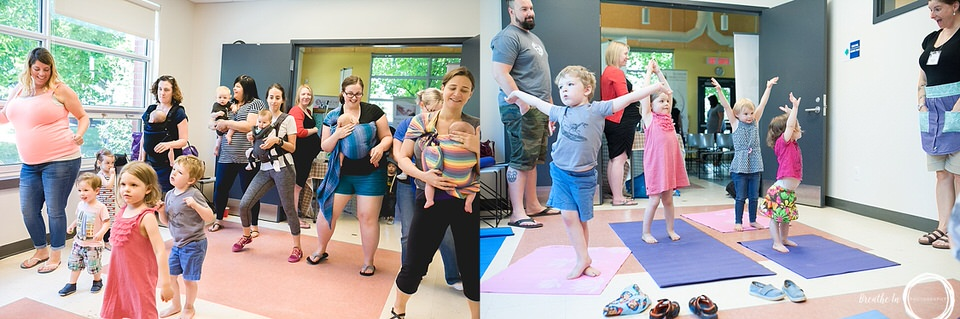 Salsa Babies Ottawa and Little Lotus Yoga offered great family programs at Global Latch On in Ottawa.