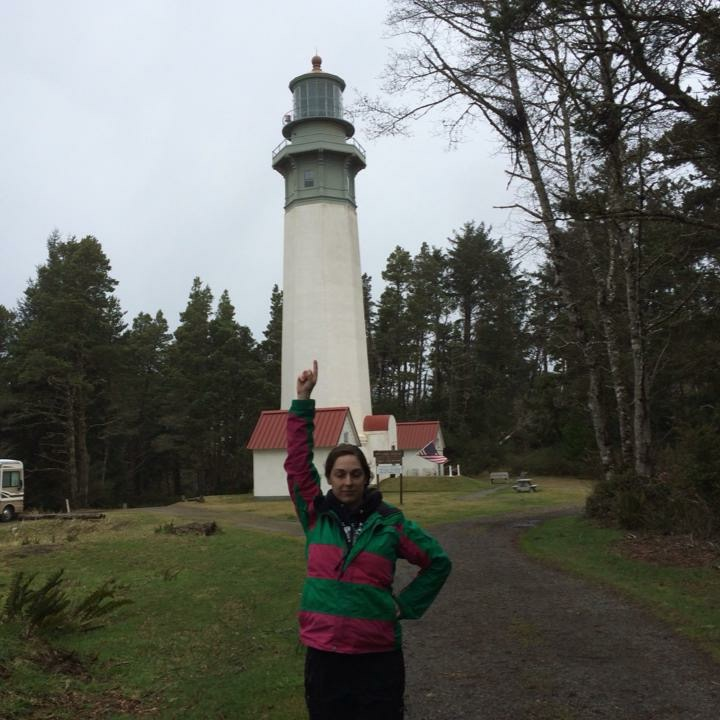 The lighthouse used to be on the beach, but the beach changes. Now it's in the forest.