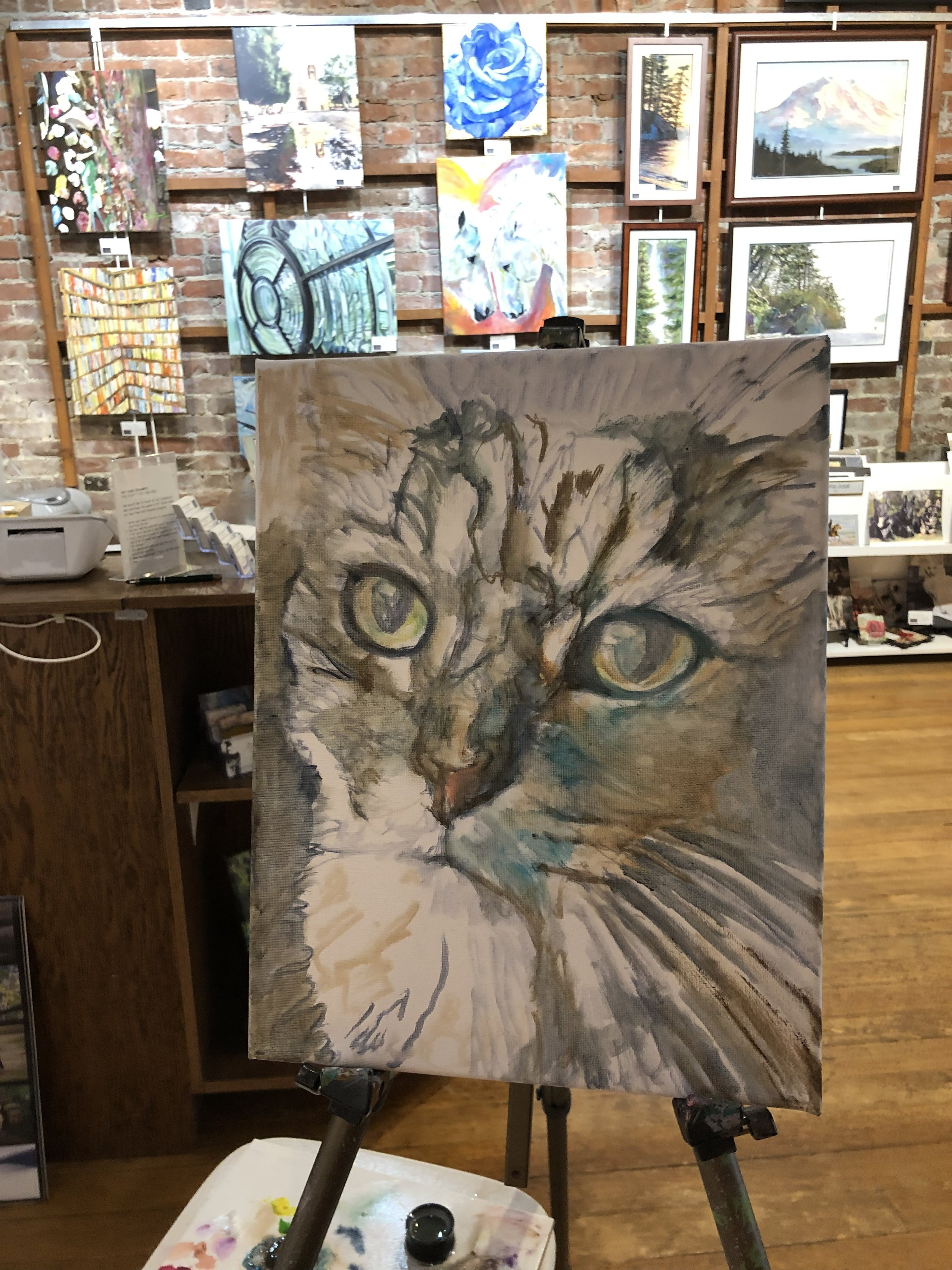 Layer 1 for my friend Sara. She lost her wonderful cat, Finnegan recently.